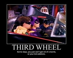 BATMAN : Some Days You Just Can't Get Rid Of Your Kid Sidekick (DarkJediKnight) Tags: robin humor fake 1966 batman parody batgirl spoof dccomics superheroes batmobile adamwest motivationalposter burtward yvonnecraig somedaysyoujustcantgetridofabomb