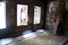 Blending in. (S_Jenk) Tags: wood portrait mountains abandoned self silver gold town still montana mine ghost mining well elk horn peaks range sort elkhorn blending