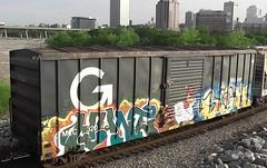 HUNT & SIGH (BLACK VOMIT) Tags: car train graffiti ol virginia box character south cartoon dirty richmond dos va sigh boxcar mayhem dlr freight hunt ssp foghorn leghorn ucme