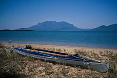 Klepper on Hinchinbrook, 1990 (3 photos) (NettyA) Tags: ocean park film beach water 35mm island kayak mt australia slide national scanned qld queensland bowen kodachrome 1990 folding hinchinbrook klepper blauwal