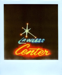 Lawless Center (Nick Leonard) Tags: city blue red classic film sign night analog vintage dark print polaroid sx70 lights star neon lasvegas nevada tripod nick scan retro sparkle nighttime signage lettering fonts timeless cursive landcamera neonglow cablerelease northlasvegas instantfilm epson4490 polaroidsx70landcamera colorshade integralfilm lawlesscenter nickleonard px70 polaroidsx70model2 theimpossibleproject gorgeoussign