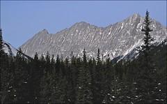 Unnamed Peaks above Beaver Lake (SomewhatNorth...) Tags: winter snow malignelakeroad jaspernationalpark alberta canada somewhatnorth icc pentax digikamgimp kx