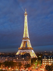 Christmas Eiffel Tower (Sir Francis Canker Photography ) Tags: christmas xmas trip travel bridge