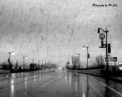 Rainy Eve on The Interstate Bridge (**Ms Judi**) Tags: road street bridge light blackandwhite storm wet rain wisconsin person lights midwest nightlights michigan stormy walker rainy lamplights msjudi marinettewisconsin regflections judistevenson judippc photographybymsjudi menonmineemichigan rainydayontheininterstatebrigde
