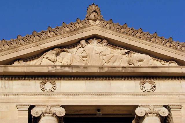Shelby County Courthouse Pediment Carving 4 - Memphis, TN