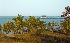 Grand Haven Foghorn House, as seen from Rosy M...