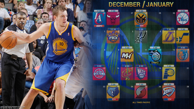 2011-2012 Warriors Schedule (December and January)