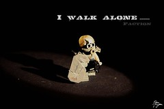 'I Walk Alone......' ([Stijn Oom]) Tags: alone lego walk painted skills figure editing try custom oom stijn pfff sigfig dutchlego