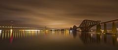 Bridges at Night LE - Explored (Grant_R) Tags: longexposure winter night reflections scotland edinburgh forthbridge southqueensferry forthroadbridge forthbridges forthrailbridge grantr edinburghphotographer edinburghphoto edinburghphotograph