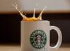 Coffee Splash - 2 (Rossini7) Tags: water coffee canon 300d flash sigma starbucks splash 105mm coffeesplash