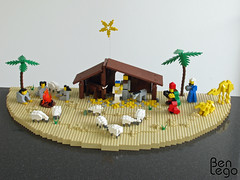 LEGO Christmas nativity scene (benlego) Tags: christmas family sheep lego shepherd donkey scene ox holy camel crib manger lamb nativity caspar krippe melchior balthasar