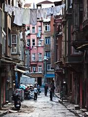 in the streets of tarlabasi, istanbul (pamela ross) Tags: street house pen turkey flat olympus istanbul line clothes ep1 tarlabasi tarlabaşı