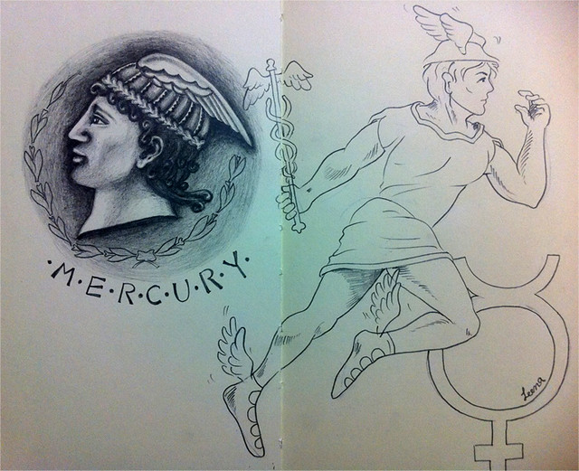 Mercury the MESSENGER - Illustration Friday