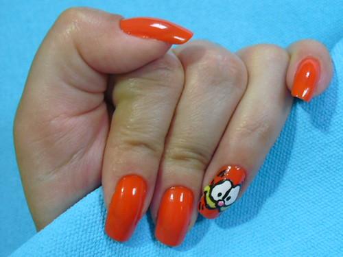 Garfield com o Laranja Cítrico da Colorama