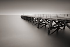 Time and tide wait for no man (Trefor Jetty) (Antho