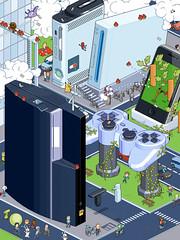 Retrogaming 3 (Jrmy Huet) Tags: game art illustration video pix xbox pixel playstation gq iphone illustrateur wii jrmy huet superbirds