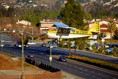 Landing Traffic (Chris Saulit) Tags: fly flying citabria parallel landing cessna 172 skyhawk airport airplane aircraft generalaviation reidhillview sanjose rhv krhv california cali norcal northerncalifornia n1701h