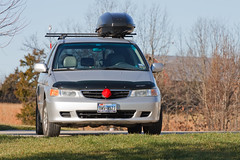 Our Rudolf mobile while in Missouri. (motleypixel) Tags: christmas family vacation car honda john pat missouri grandparents inlaws rudolf van 2011 canonef70200mmf4lusm canoneos40d niswanger royniswanger motleypixelcom