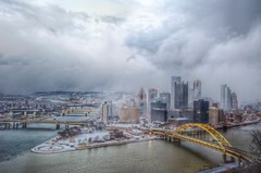 Fog over Pittsburgh HDR (Dave DiCello) Tags: winter snow photography nikon pittsburgh blizzard hdr highdynamicrange incline threerivers burgh pittsburghskyline duquesneincline steelcity yinzer pittsburghbridges cityofbridges theburgh pittsburgher colorefex d700 ononesoftware nikond700 thecityofbridges pittsburghphotography pittsburghcityofbridges steelscapes perfecteffects picturesofpittsburgh cityofbridgesphotography
