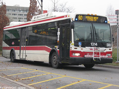 Toronto Transit Commission #1314 (vb5215's Transportation Gallery) Tags: toronto ttc transit orion ng 2008 commission vii hev