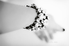 Lend me your hand (or your diamonds?) (..illi..) Tags: christmas bw diamonds canon 50mm crystals bn ii bracelet present f18 natale regalo jewel gioielli bracciale diamanti cristalli accessorio