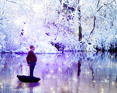 Michael Poppins Winter Adventure (Michael Taggart Photography) Tags: winter snow ice sparkles umbrella river mary adventure magical poppins