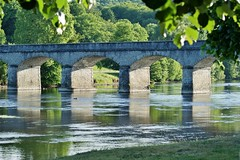 Bridge over the Vienne River (Paul (Barniegoog)) Tags: bridge france nature rural river pont vienne limousin hautevienne lavienne rivervienne saintvicturnien yahoo:yourpictures=waterv2