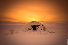 The little snow house. (Gulli Vals) Tags: trip travel trees winter friends sunset orange sunlight white house snow black mountains cold ice nature water beautiful sunshine clouds canon lens landscape fire photography lights lava iceland amazing focus europe exposure frost european day colours photographer silent shot sundown small natur north january dream freezing free hike textures southern filter national freeze icecubes snowing nordic traveling lovely capture northern depth icebergs 2012 icelandic sunrice eropean photosandcalendar natureandpeople mygearandmepremium mygearandmebronze gullivals