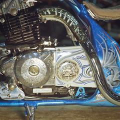 (shimobros) Tags: show hot film bike japan vintage chopper kodak mc bronica squareformat moto motorcycle rod yokohama custom sq portra 800 basic digger bobber mooneyes 2011 150m zenza adobelightroom  hotrodcustomshow