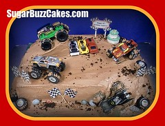 Monster Truck Birthday Cake (Sugar Buzz Cakes by Carol) Tags: road birthday boy red black monster cake truck rocks mud unique flags sugar tires arena dirt birthdaycake batman gravedigger custom edible checkered monstertruck sculpted eltoro fondant buttercream edibleimage checkeredflags sugarbuzz racingflags mudbogs boybirthday customcake celebrationcake sculptedcake chocolaterocks sportscakes carvedcake 100edible maximumdistruction sugarbuzzcakes fondanttires