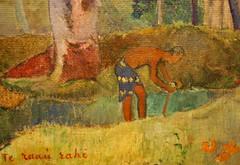 Paul Gauguin (1848-1903) - The Big Tree (Te raau rahi) (1891) (UGArdener) Tags: chicago impressionism artinstituteofchicago gauguin artgalleries paulgauguin frenchimpressionism