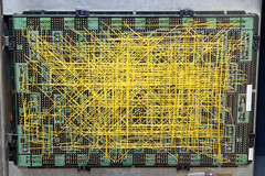Wire-wound logic board (hudson) Tags: yellow pins circuit punchcard wirewrap ibm129