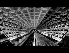 the light at the start of the tunnel | washington, dc (elmofoto) Tags: urban blackandwhite bw public monochrome station silhouette train underground subway square lights dc washington metro fav50 escalator platform tracks tunnel fav20 transportation grotto commuter fav30 hdr highdynamicrange pf 500v mcpherson wmata cavernous reticulated 1000v fav10 fav100 fav200 tonemapping fav40 fav60 fav90 fav80 fav70 elmofoto lorenzomontezemolo forcurators