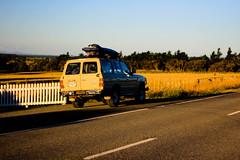 Parked Up (samforty) Tags: road new sunset summer drive evening warm 4x4 takumar super surfing 55mm zealand surfboard m42 toyota land parked landcruiser smc cruiser coated multi martinborough