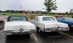 1964 & 1965 Imperial Crown Coupes (DVS1mn) Tags: auto white cars hardtop car minnesota four big body head five large 64 vehicles american imperial crown chrysler mopar mn luxury coupe blackbeauty v8 wedge mycar sixty nineteen 65 1964 1965 413 landyacht greenhornet wpc chryslerimperial 2door rwd walterpchrysler mopars nineteensixtyfour chryslercorporation kandiyohi persianwhite crowncoupe dbody midwestmopars moparsinthepark imperialcrowncoupe greenhornetsblackbeauty nineteensixtyfive