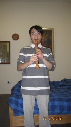 Me playing the treble recorder