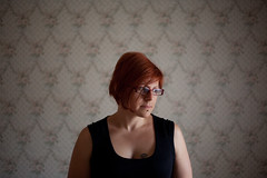 (supacrush) Tags: wallpaper portrait woman beautiful tattoo digital canon glasses natural availablelight redhead abandonedhouse vignetting daytrip windowlight bacchusmarsh melbournesilvermine 5dii