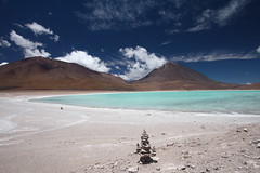 Laguna Verde and Licancabur volcano Photo