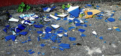 Regrettable (Dirk Lambrichts) Tags: blue glass blauw shards glas scherven doel ghostvillage spookdorp