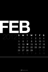 February 2012 Lock Screen Calendar Wallpaper B...