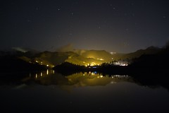 Fotos nocturnas Reflejos en la Presa de Chira Gran Canaria