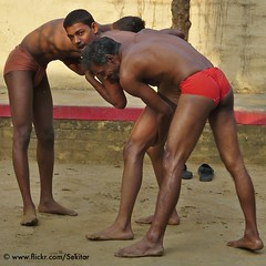 Threesome - Kushti at Tulsi Ghat Akhara, Varanasi (Sekitar) Tags: boy india man men sport training varanasi threesome tulsi ghat tradtion akhara kushti earthasia
