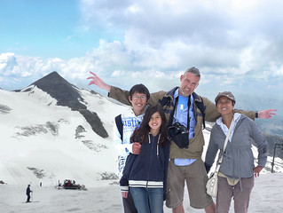 We enjoy the fresh mountain air of Hintertux