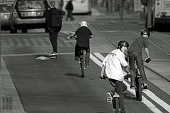 Yah, were in the street!  Whatcha gonna do? (Ian Sane) Tags: street city urban white black boy