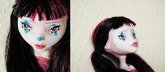 3 (Hellohappylisa) Tags: cute face make up monster high mod doll sweet clown adorable makeup kawaii bjd custom commission mattel bandwagon repaint faceup playline draculaura
