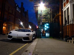 Under Lights (BenGPhotos) Tags: white london car night lamborghini supercar spotting 2012 v12 hypercar aventador