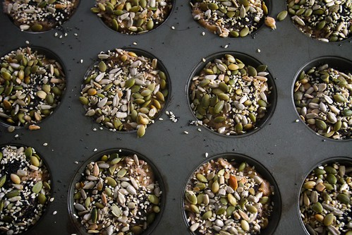 thousand seed banana date muffins