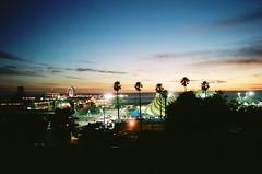 vignette (oceanerin) Tags: california leica sunset night pier kodak santamonica clear portra m6 elmarit roll59