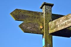 Signpost near Top Withens, Haworth (namraf) Tags: uk greatbritain england west photo village bradford image unitedkingdom yorkshire photograph moors signpost haworth wutheringheights topwithens brontecountry d7k nikond7000