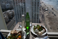 Friday brunch on the 17th floor - Explored (Poupetta) Tags: sunshine lifeisgood salads cheeses yummyfood explored themediterraneansea telavivbeach viewfromthe17thfloor iamacheeselover brunchwithyossi theseaisthebest